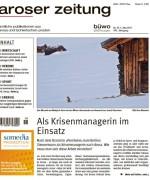 """Aroser Zeitung, """"Als Krisenmanagerin im Einsatz"""", Mai 2017"""
