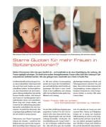 """HITECH CAMPUS, """"Starre Quoten für mehr Frauen in Spitzenpositionen"""" April 2015"""