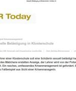 """HR Today, """"Sexuelle Belästigung in Klosterschule"""", Mai 2014"""