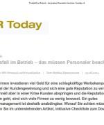 """HR Today, """"Todesfall im Betrieb – das müssen Personaler beachten"""", Juni 2014"""