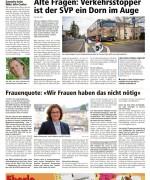 """Wiler Nachrichten, """"Frauenqoute. Wir Frauen haben das nicht nötig"""", März 2017"""