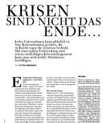 """Women in Business, """"Krisen sind nicht das Ende…"""", März 2014"""