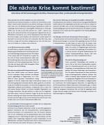 """IHK-Magazin & Technik in Bayern, """"Die nächste Krise kommt bestimmt"""", Juli 2017"""